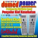 Jual Snellen Chart Elektrik Remote Kontrol DSN-301-R Harga Murah