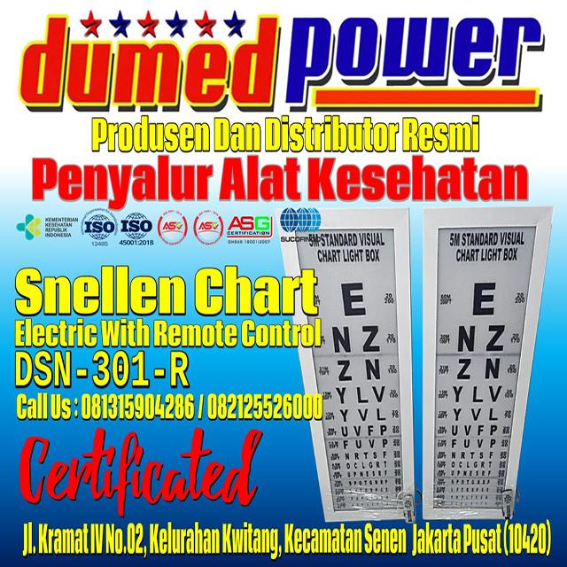 Jual Snellen Chart Electric Remote Control DSN-301-R Harga Murah